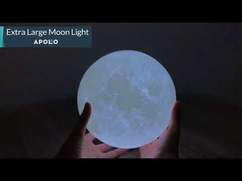 Apolo Moon Lamp Led 3d Printed Fuzz Store Lamp Light 3d Printing