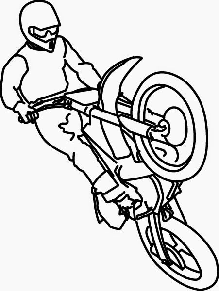 Motorcycle Coloring Pages Free And Printable Coloring Pages