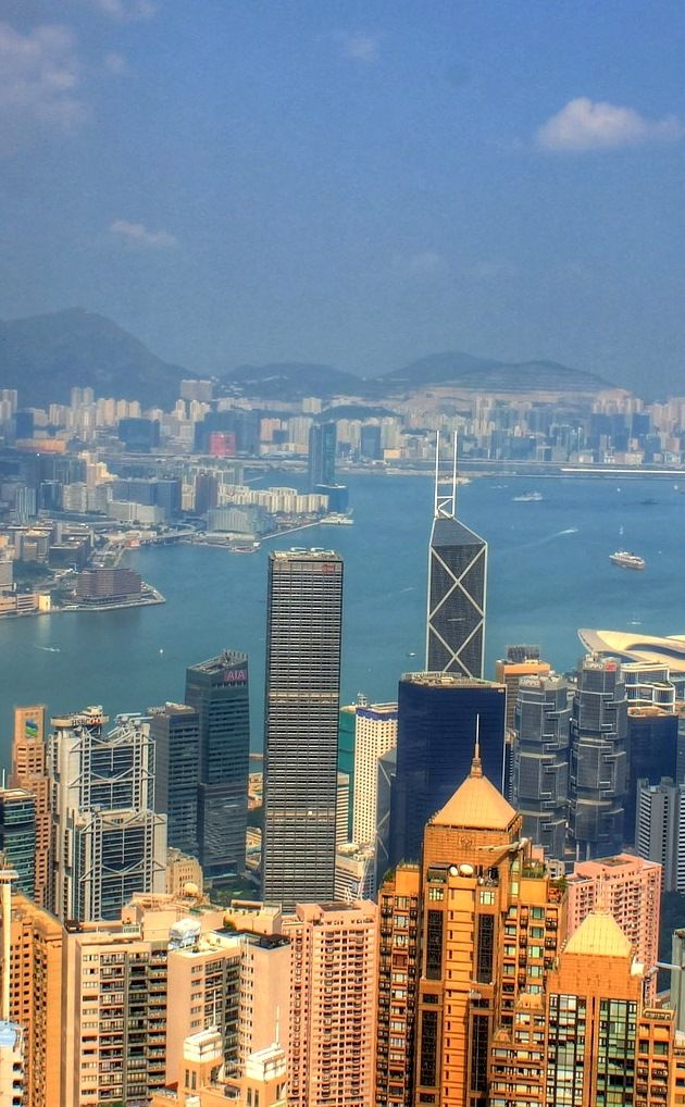 A view from the Peak towards Victoria Harbour and the skyscrapers around it | Hong Kong Travel Tips