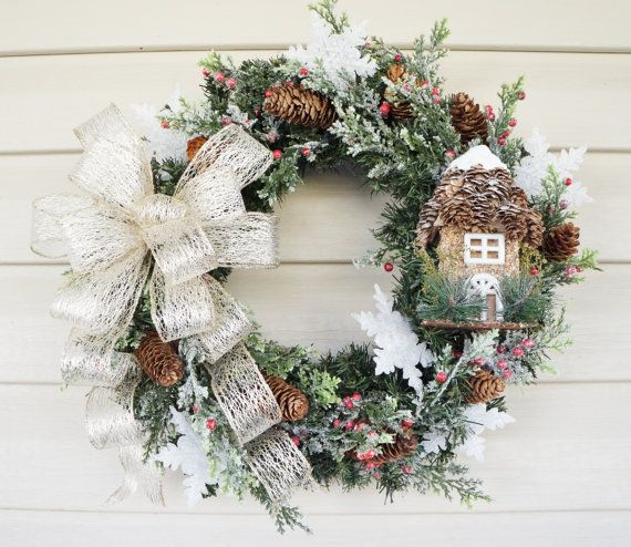Small Christmas Wreaths.Small Christmas Wreath With Frosted Acrylic By