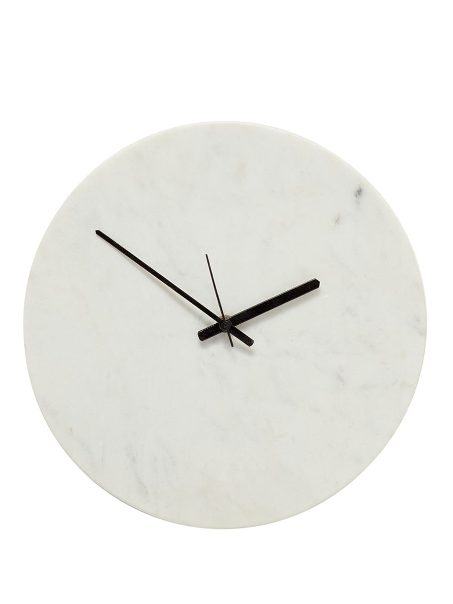 Musthave wanduhr marmor wei von h bsch interior online kaufen bei - Wanduhr skandinavisch ...