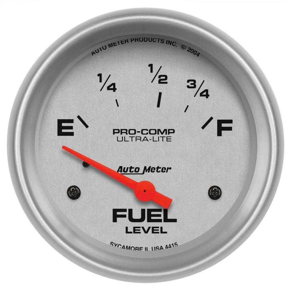 Sponsored Ebay Autometer Ultra Lite Electrical Fuel Level Gauge 2