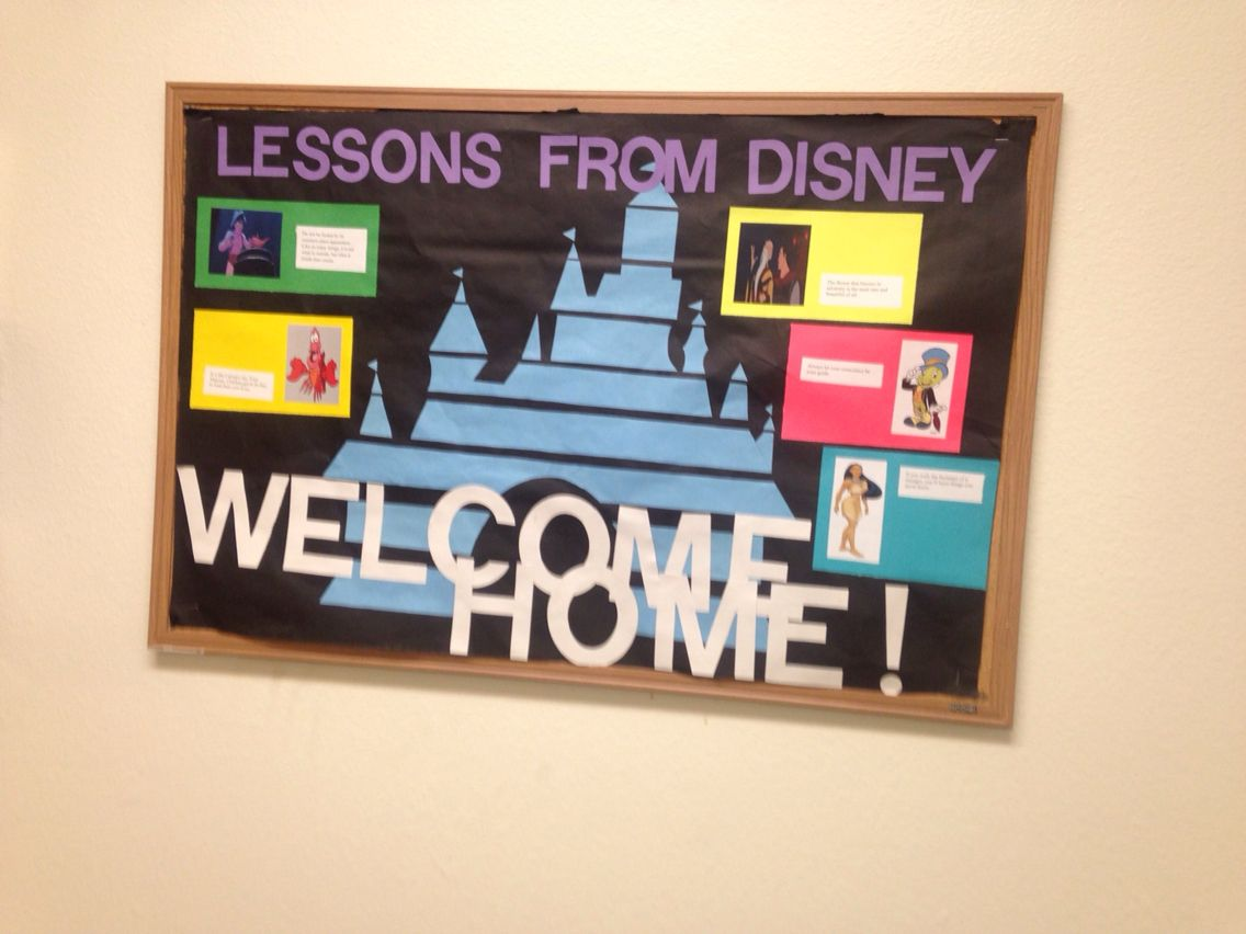 Disney Welcome Bulletin Board (Lessons from Disney) My very first board!