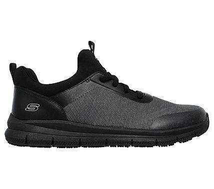 a51a41cbfa Skechers Work Men s Work Wishaw Relaxed Fit Slip Resistant Work Shoes (Black  Charcoal)