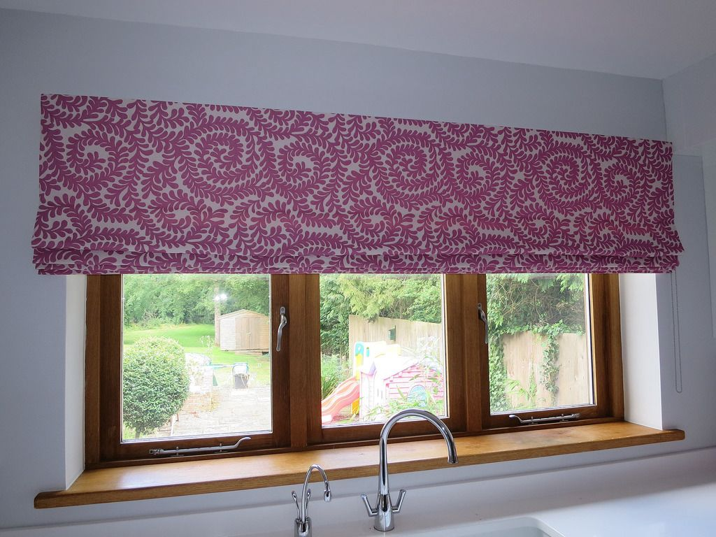 Roman Blind Large Roman Blind Made With A Laura Ashley Fabric - Laura ashley curtains purple