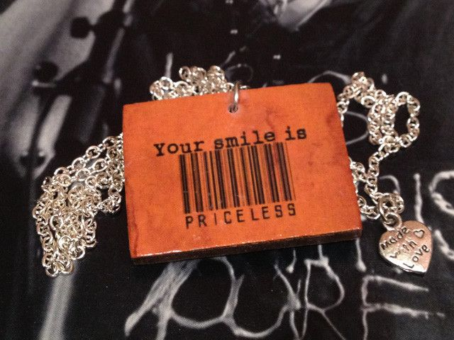 "Style with Mind necklace ""Your smile is priceless"". www.magne.ie"