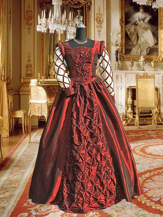 Estilo renacentista pera adornado vestido hecho por ...