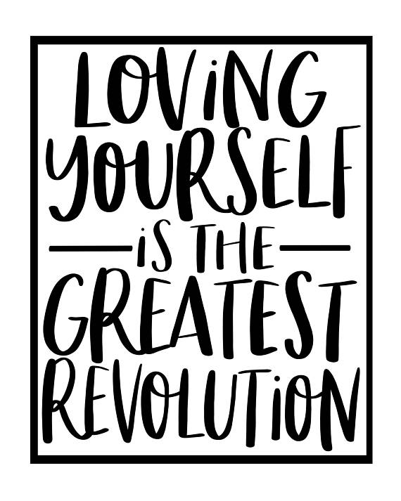 Love Yourself Print 8x10 Self Love Gift For Her Minimalist
