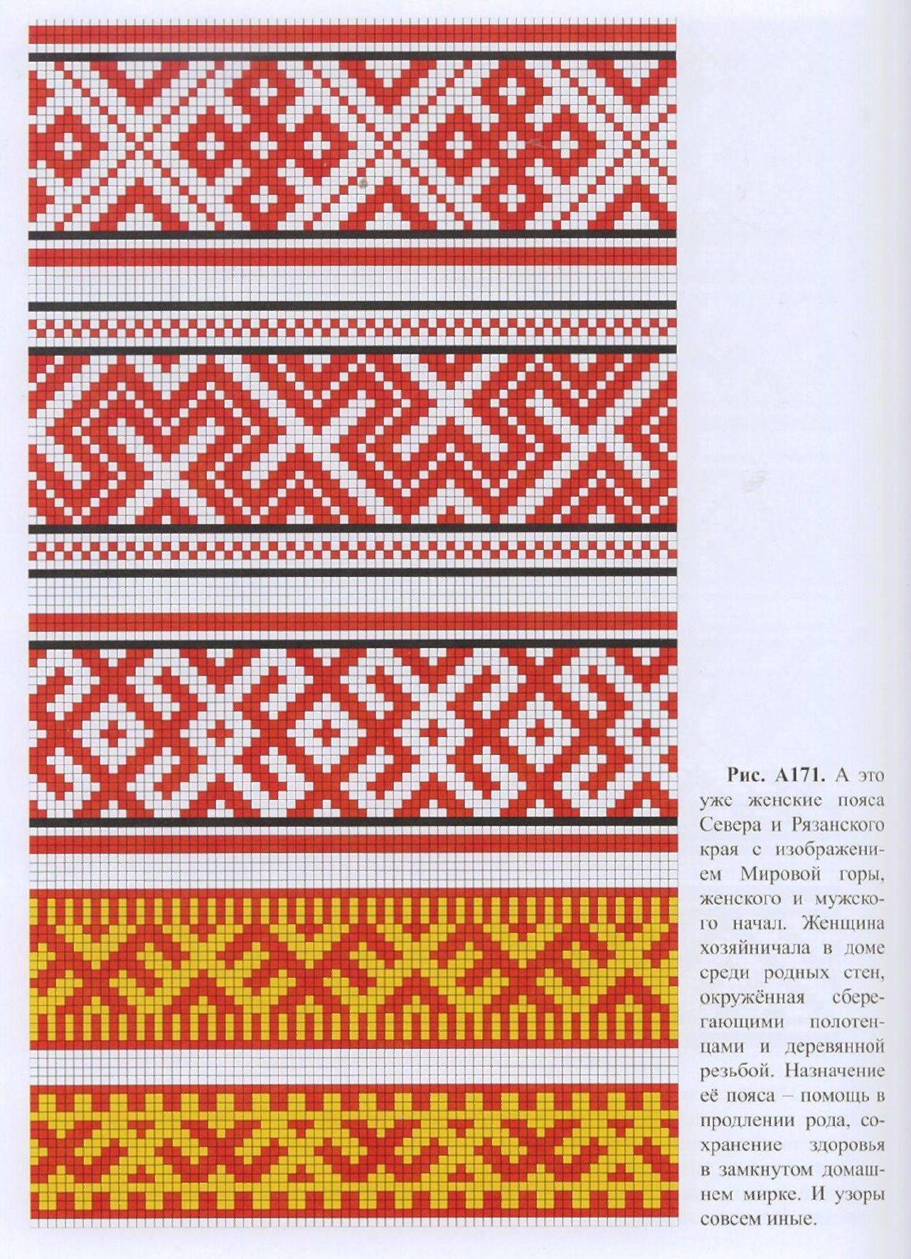 Схема вышивок для очелья