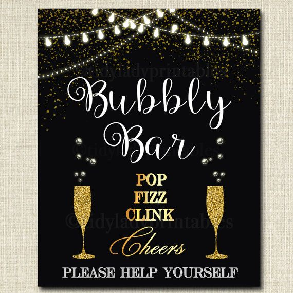 New Years Eve Bar Sign New Years Eve Mimosa Bar Black Silver Bar Sign Nye bar sign NYE Party Sign New Year/'s Bar Sign NYE Mimosa Sign
