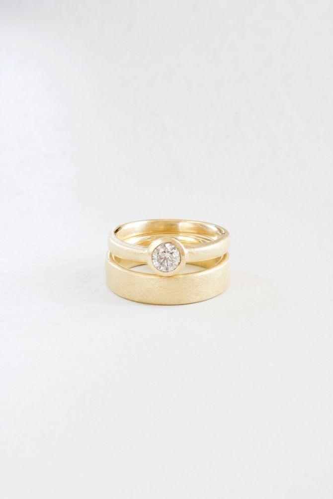 Eheringe Verlobungsring Gold Diamant n°32 Letizia Plankensteiner