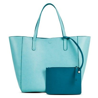 25293168e79a Women s Reversible Tote with Removable Pouch Aqua - Merona™   Target