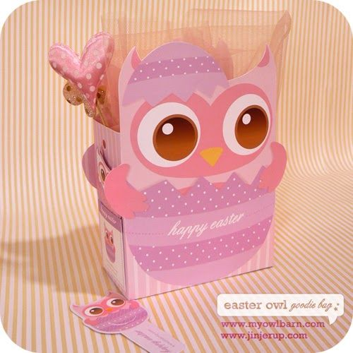 Printable easter owl goodie bag easterspring pinterest printable easter owl goodie bag negle
