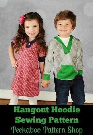 Hangout Hoodie PDF Sewing Pattern - Peekaboo Pattern Shop