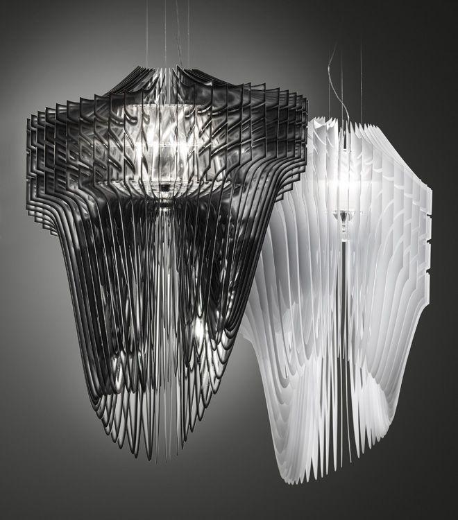 Aria and Avia lamp by Zaha Hadid for Slamp