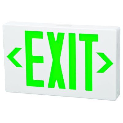 Morris Products Thermoplastic Surface Mounted Led Exit Sign In 2020 Exit Sign Emergency Exit Signs Sign Lighting