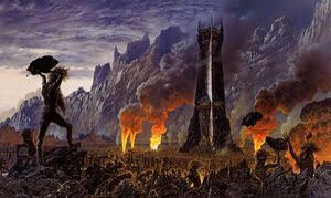 The Ents attack Isengard