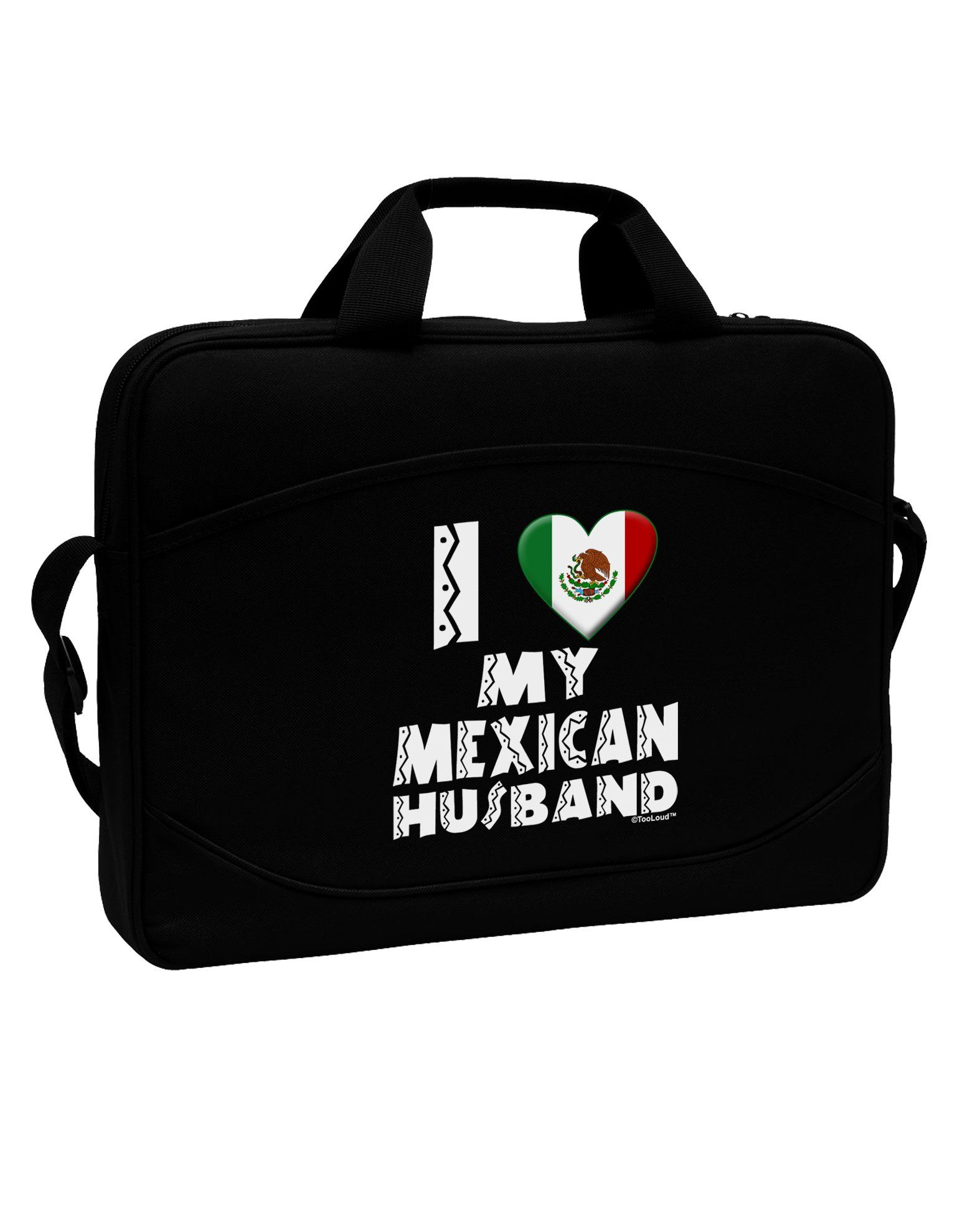 "I Heart My Mexican Husband 15"" Dark Laptop / Tablet Case Bag by TooLoud"