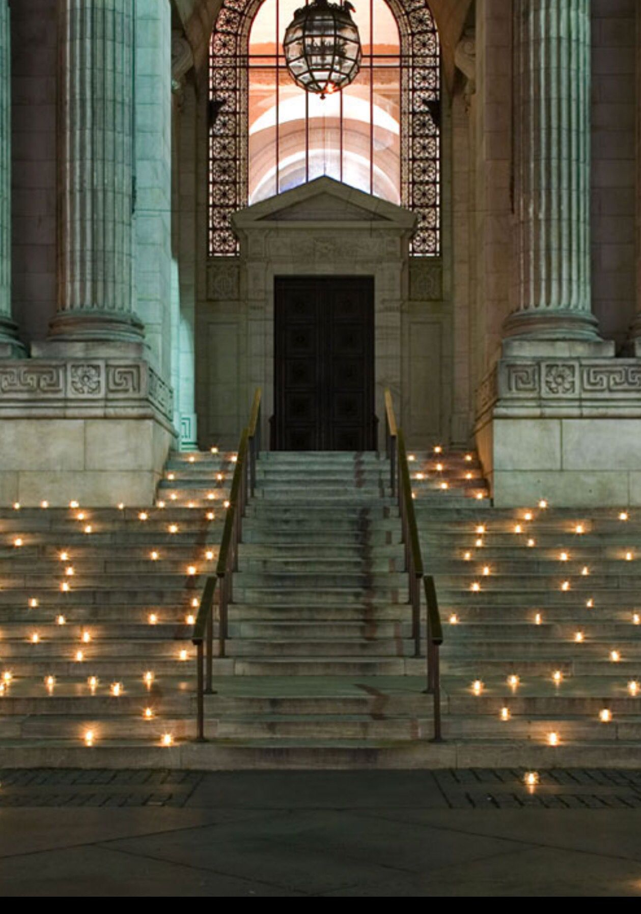 church wedding decorations candles%0A Wow your guests with an evening ceremony by lining the church stairs with  LED flameless candles