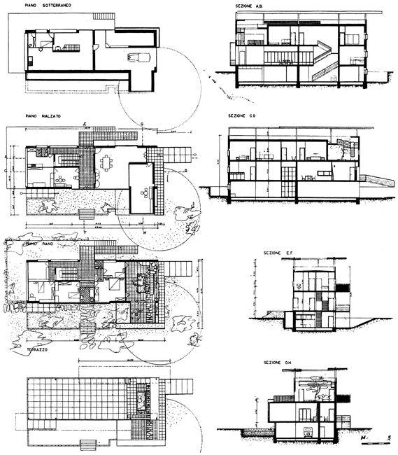Villa bianca seveso par giuseppe terragni 1936 for Villa plan dwg