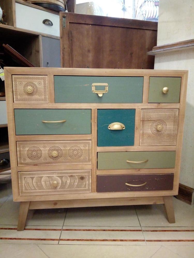 Com stile vintage cassettiera com legno arredo for Arredamento casa como