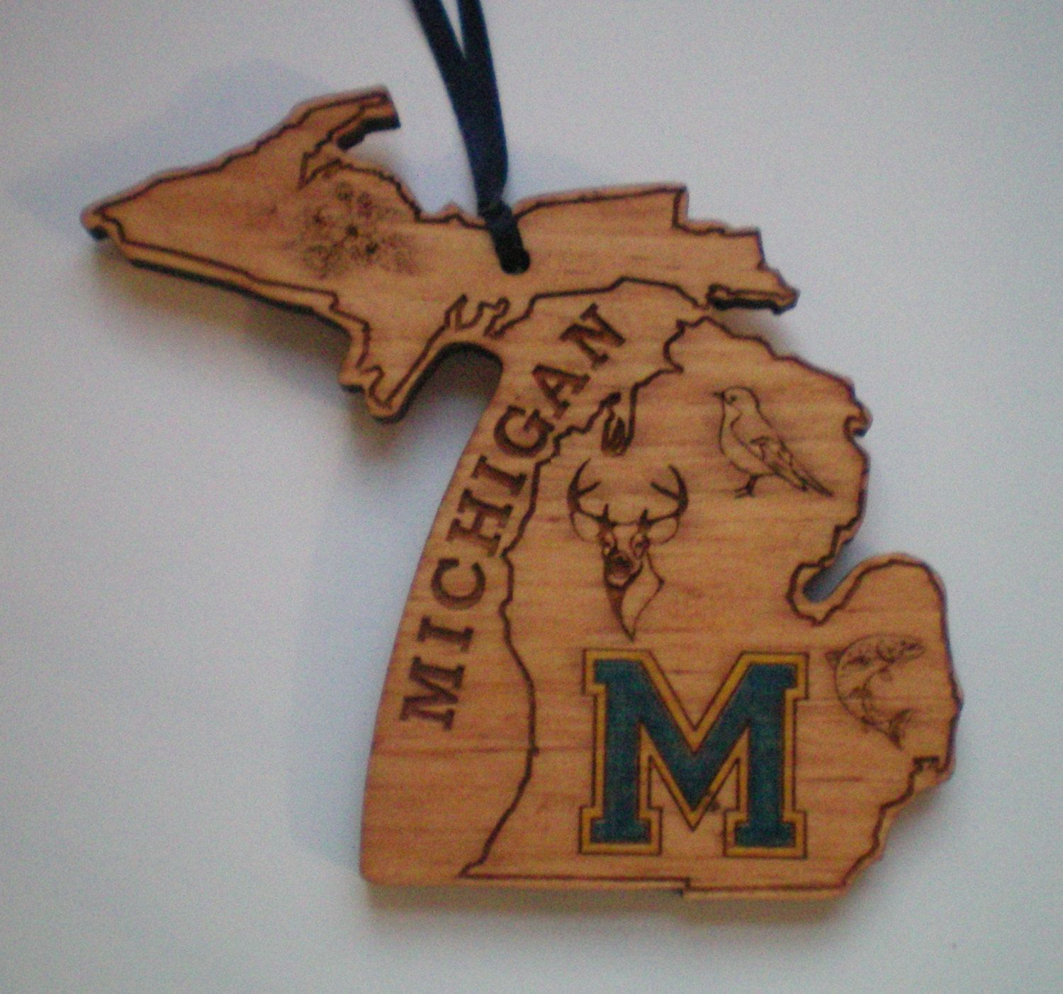 University of michigan christmas ornaments - University Of Michigan Christmas Ornament By Infinityengraving On Etsy
