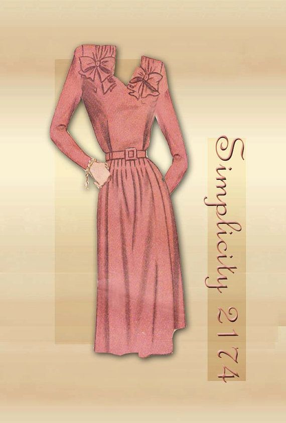 5e2e412f80e13 1940s Maternity Dress Pattern Simplicity 2174 from FloradoraPresents ...