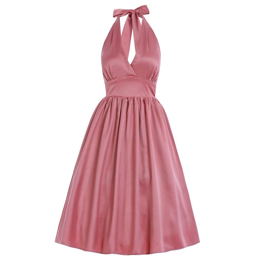 Marilyn Blush Pink Swing Dress | Vintage Inspired Fashion - Lindy ...