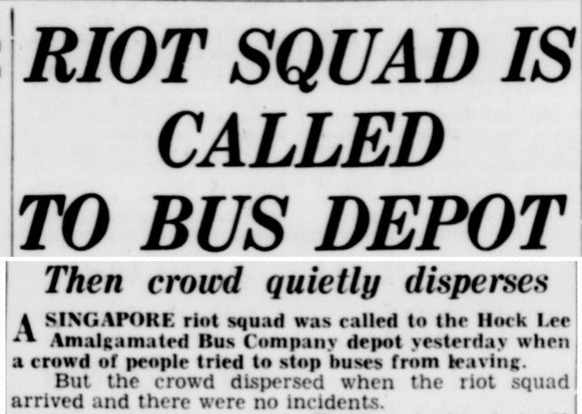 Do you remember the Hock Lee Bus Riots?