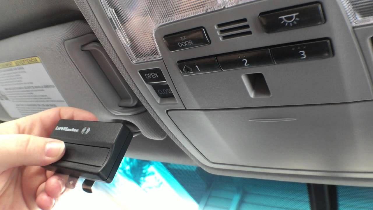 Garage door remote many garage door openers function