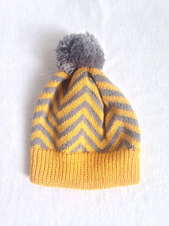 a3644455e70 Children Knitted Chevron Hat Mustard Knitted Hat Baby Knit Hat Baby Knits Kids  Knitwear Knitted Beanie Unisex Knit Hat by ToutPetitUK on Etsy