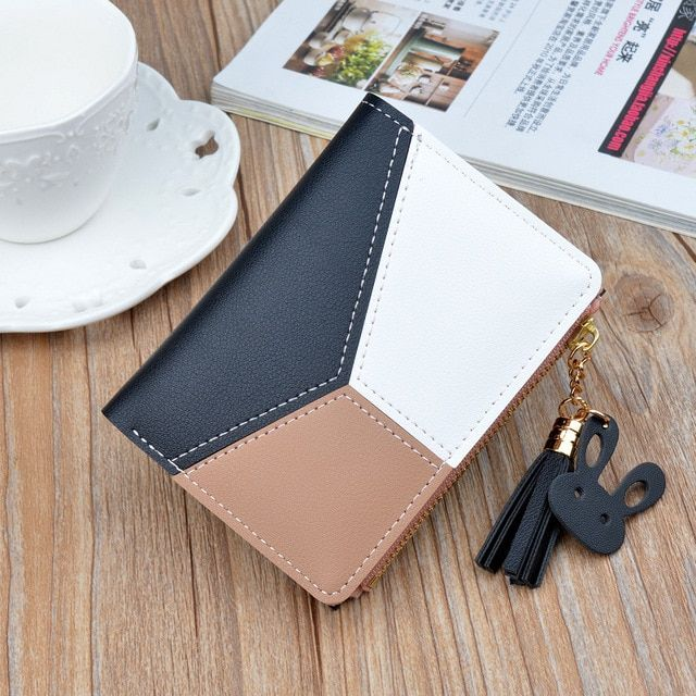 dc5ac4a775c5 New Designer Leather Small Women Wallets Zipper Short Tassel Cute Coin  Purses Credit Card Holder Money Bag Clutch Wallets Female Review