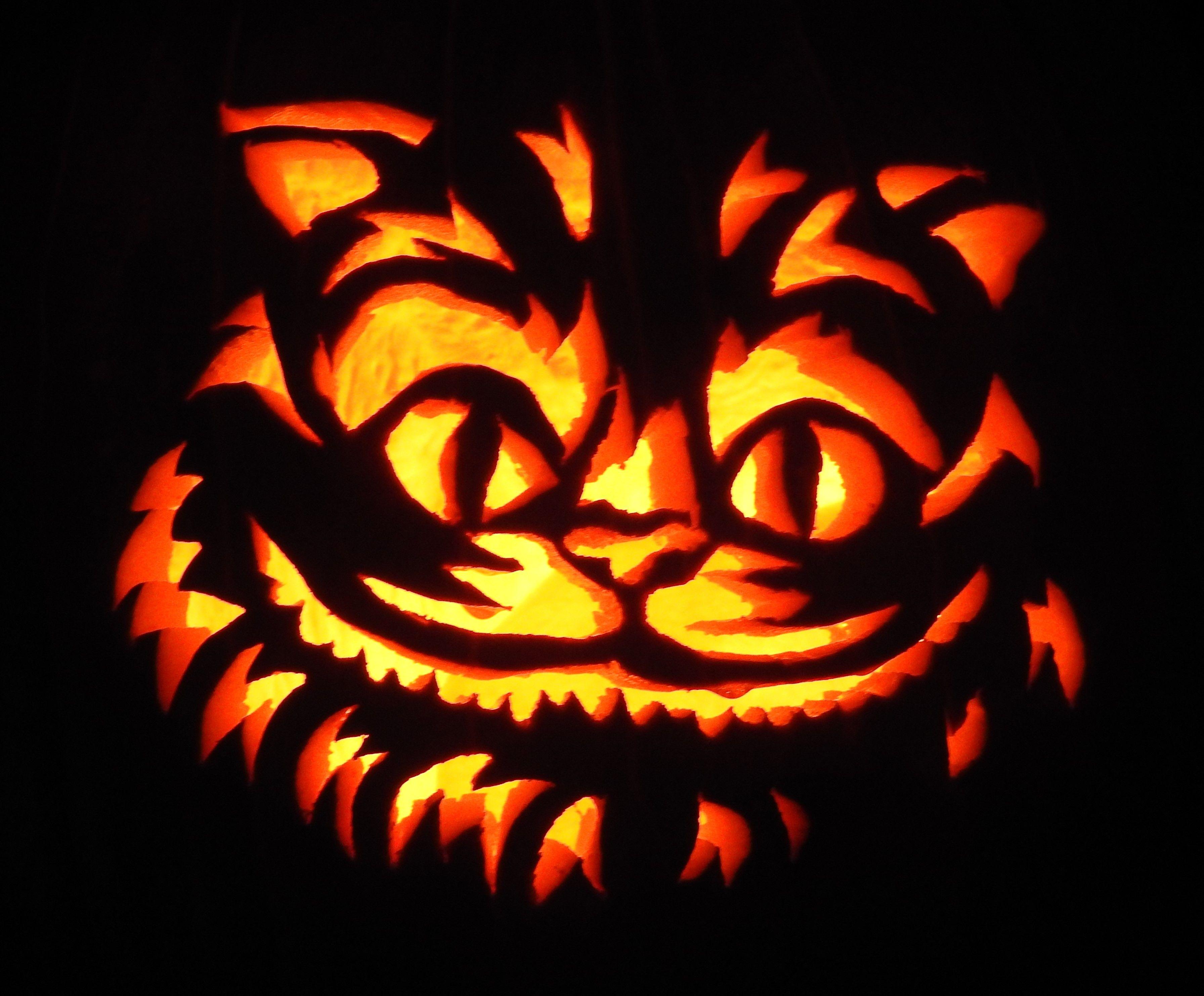 Cheshire Cat Pumpkin Carving And Pumpkin Patterns