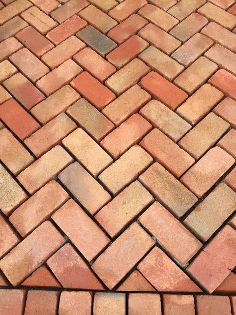 Herringbone Brick Pattern Flooring Patio Path Walkway