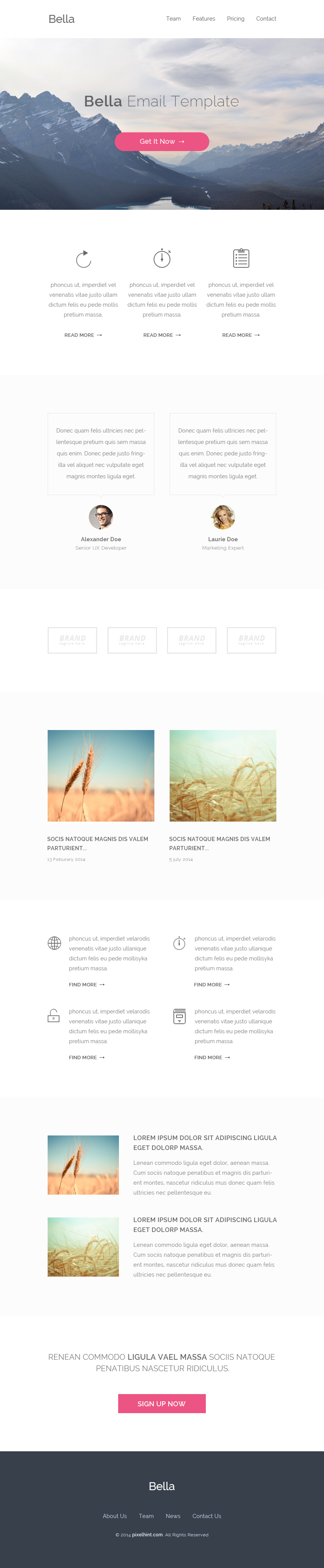 Free PSD & HTML Email Template