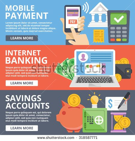 Mobile Payment Internet Banking Business Savings Accounts Flat