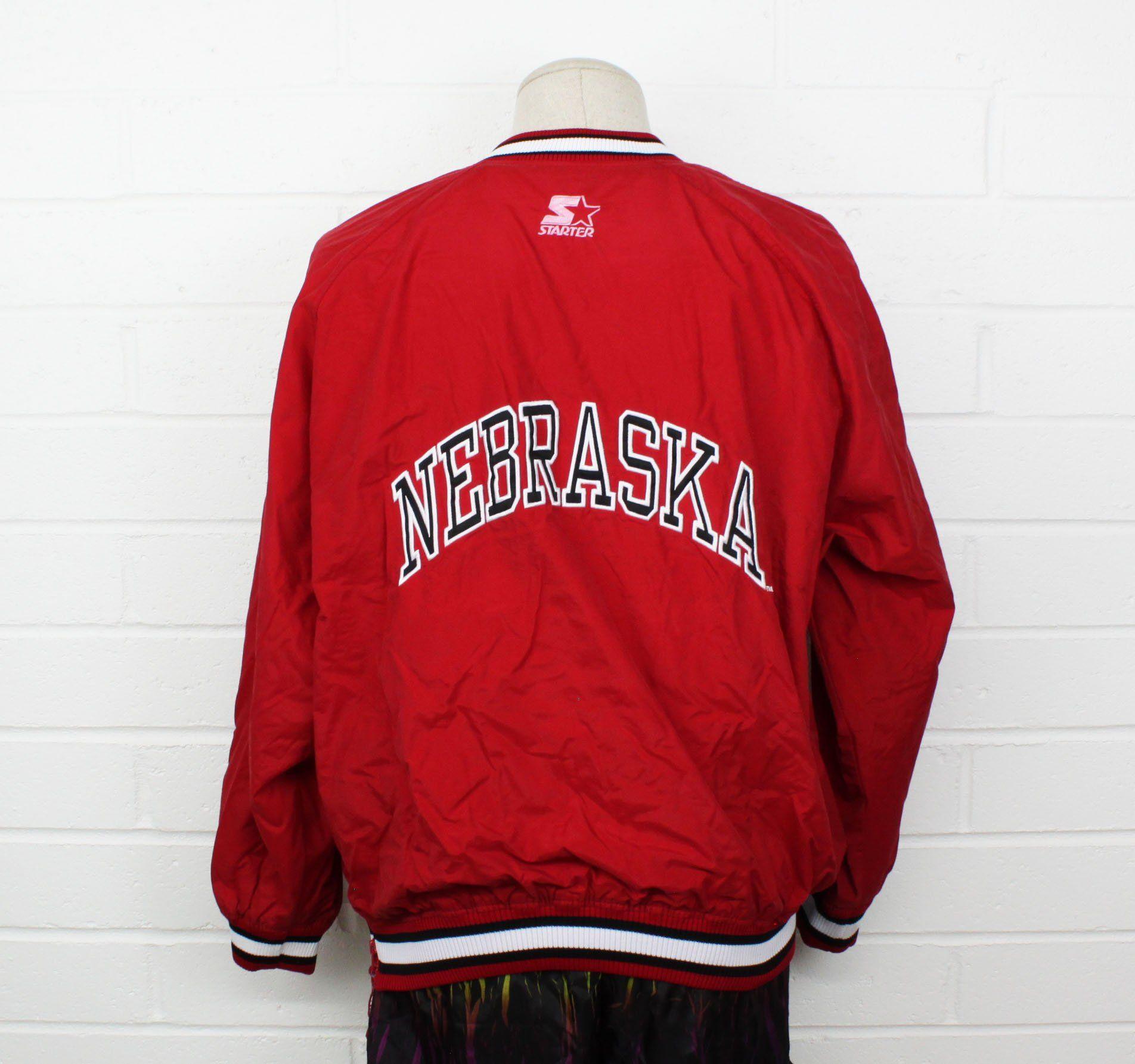 Vintage 90s University Of Nebraska Starter Jacket Corn Huskers Etsy Pullover Windbreaker Jackets Track Jackets [ 1785 x 1904 Pixel ]
