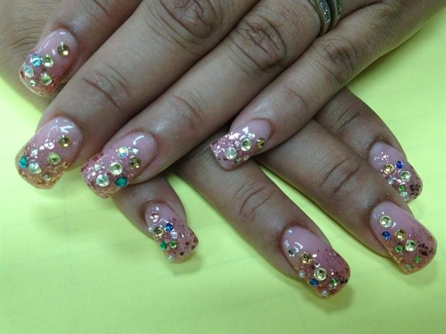 Bling Bling Nails by Pinky - Nail Art Gallery nailartgallery.nailsmag.com by Nails Magazine www.nailsmag.com #nailart