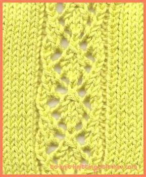Diamond Panel Lace Stitch is fun to knit. Not too ...