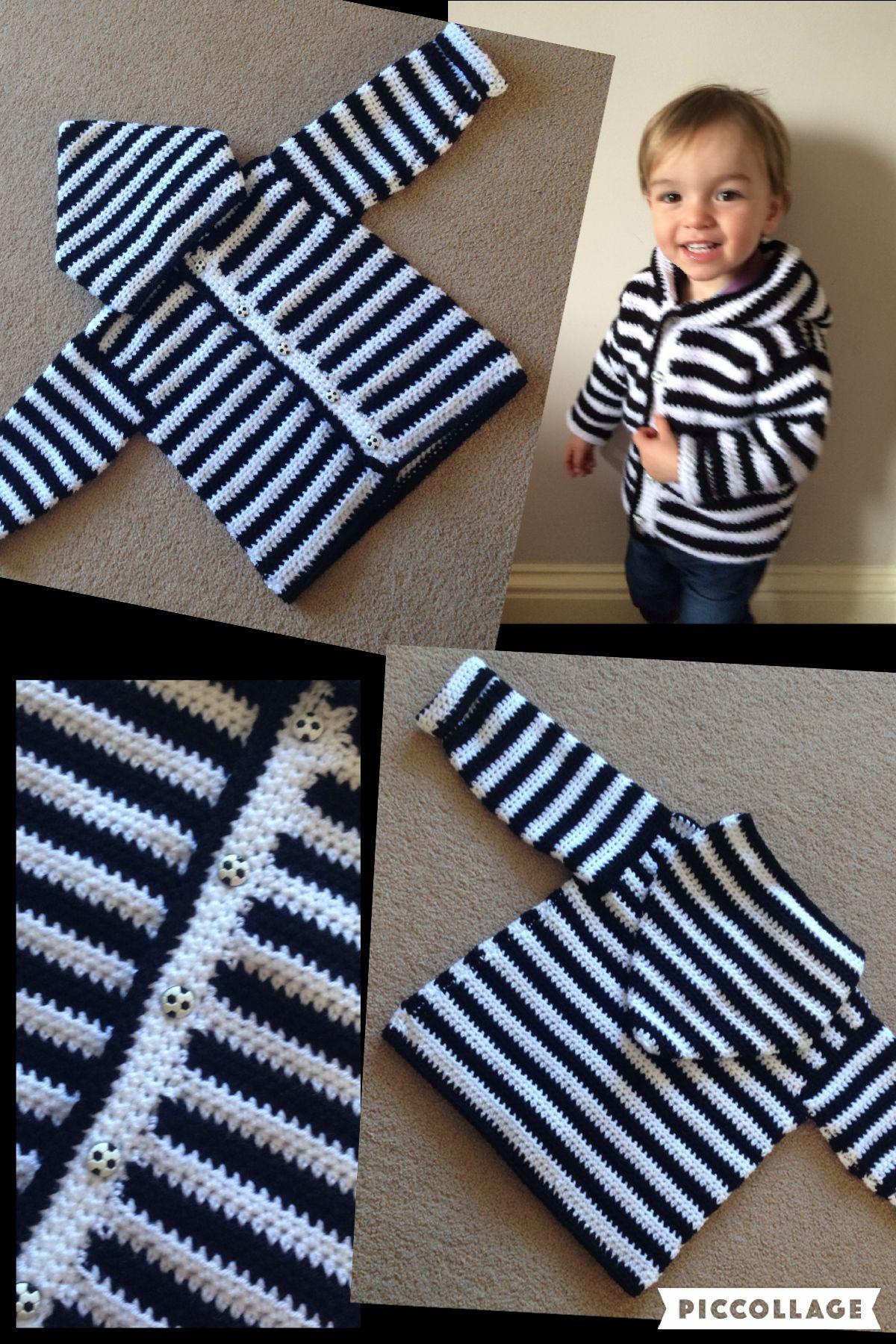 9bcd3a21f Boys crochet hoody free pattern. ⚽ … | Knit and crochet | Croch…