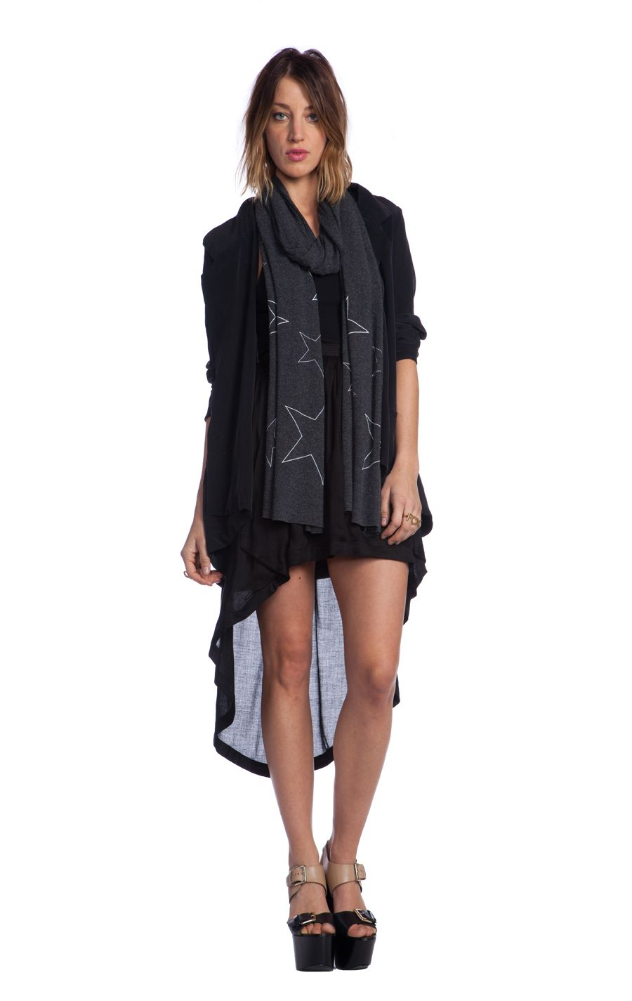 STARLIGHT - WILDFOX SCARF at Wildfox Couture in GHOST PINK, - CLEAN BLACK