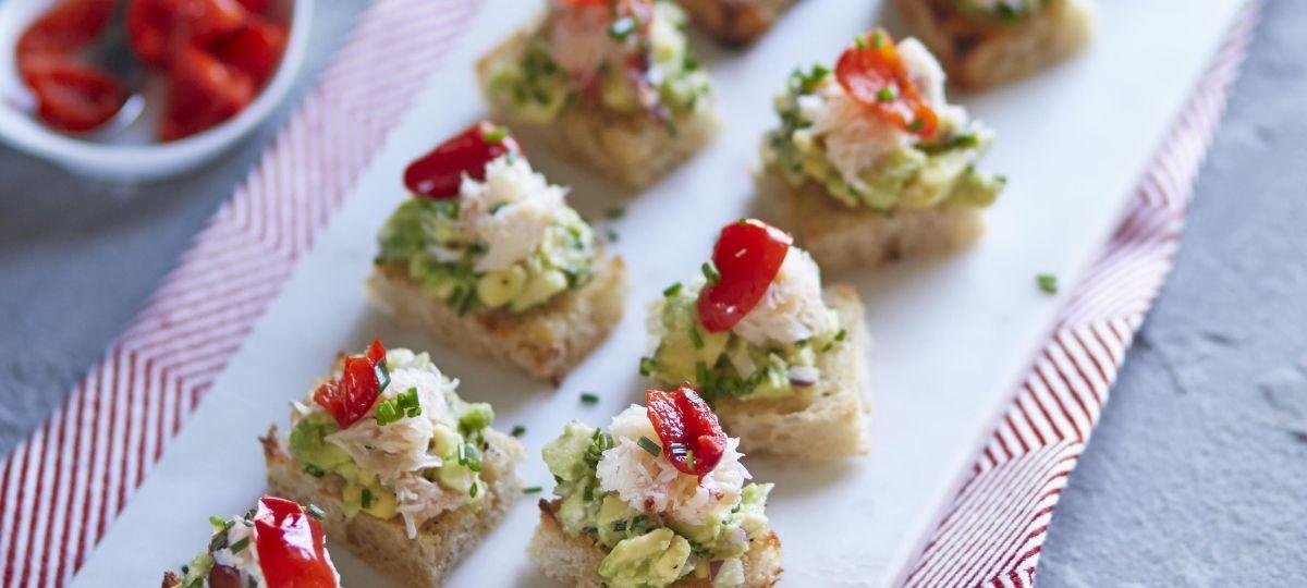 Crab and avocado crostini with Mild Peppadew™ Piquanté Peppers » Enrico