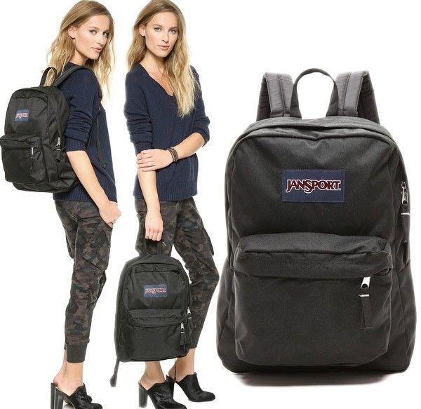 Black Superbreak Jansport Backpack Daypack Daypacks Review Every ...
