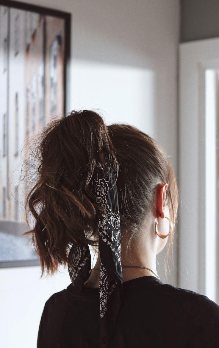 Lazy Hairstyles – #Bandana #Hair #Faul #Styles
