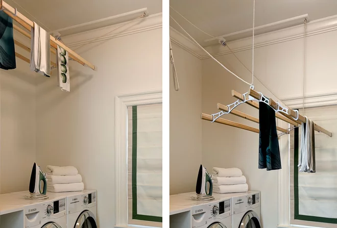 Pulley System Indoor Clothes Line In 2020 Laundry Room Remodel