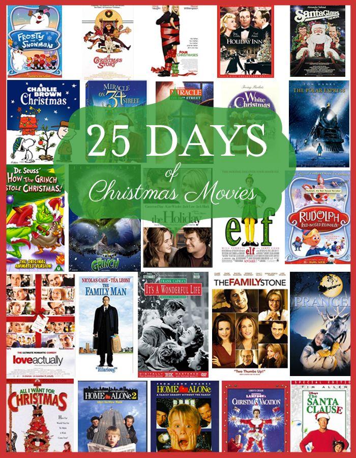 Christmas Movies Christmas Movies Best Christmas Movies 25 Days Of Christmas