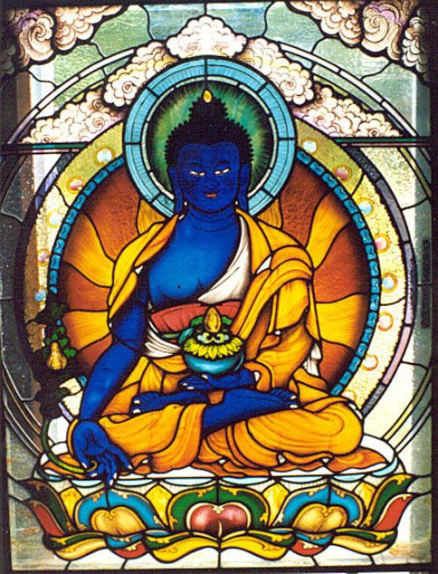 Medicine Buddha Window Yulokod Studios Pinterest Buddha - küchenrückwand glas günstig