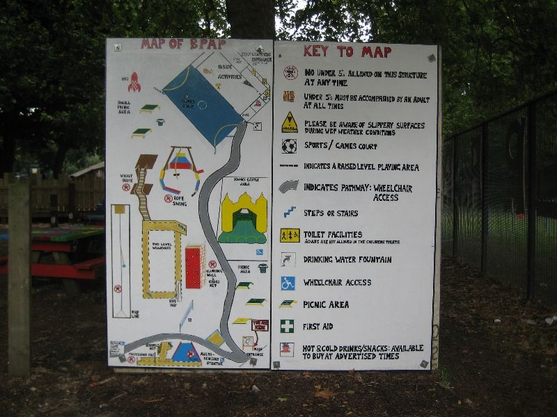 Battersea Park Adventure Playground Map