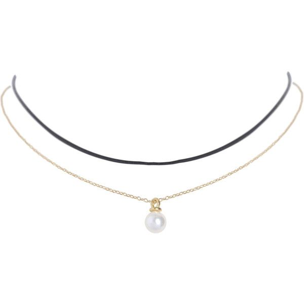 Humble Chic NY Pearl Layer Choker (56 BRL) ❤ liked on Polyvore featuring jewelry, necklaces, accessories, choker, white pearl necklace, pearl necklace, double layer necklace, pearl choker and layered choker necklace