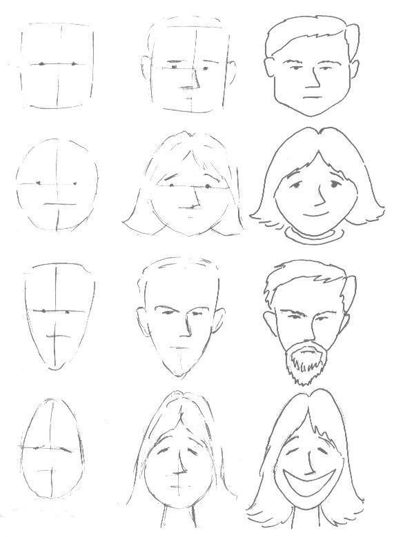 Basic face drawing lesson | sketches | Pinterest | Face drawings ...